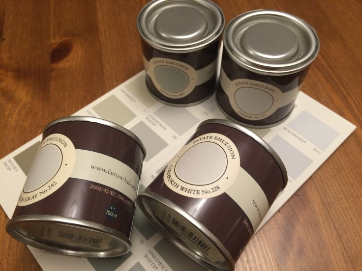 Decisions, decisions! Pretty paint choices from Farrow and Ball.