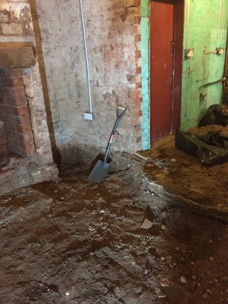 Digging up floors - a messy job!