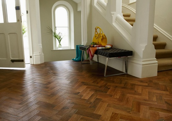 Parquet flooring - we're going for something like this.  Image from flooringmagz.com.